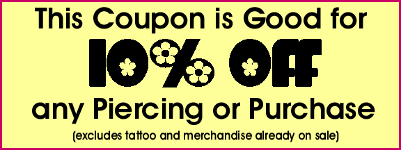 Hippie shop discount coupons