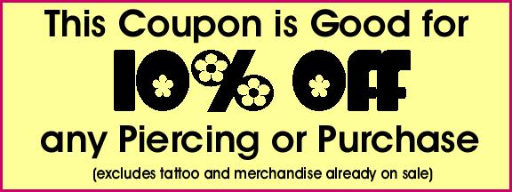 Hippie shop discount coupons